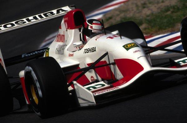 Aguri Suzuki (JPN) Footwork Mugen-Honda FA13.German Grand Prix, Hockenheim, Germany, 26 July 1992.DIGITAL IMAGE