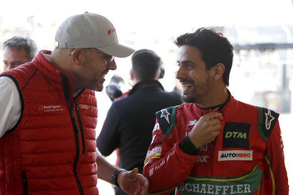 Chris Reinke, Head of Audi Sport Customer Racing and Lucas di Grassi, Abt Sportsline.