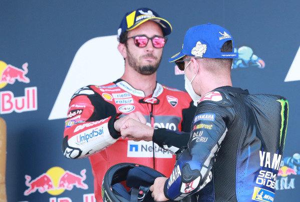 Andrea Dovizioso, Ducati Team, Maverick Vinales, Yamaha Factory Racing.