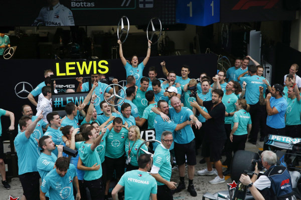 Mercedes-AMG F1 celebrate clinching the Constructors Championship