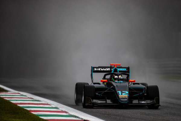 AUTODROMO NAZIONALE MONZA, ITALY - SEPTEMBER 06: Keyvan Andres (IRN, HWA RACELAB) during the Monza at Autodromo Nazionale Monza on September 06, 2019 in Autodromo Nazionale Monza, Italy. (Photo by Joe Portlock / LAT Images / FIA F3 Championship)