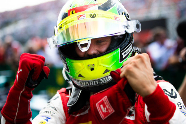 HUNGARORING, HUNGARY - AUGUST 04: Mick Schumacher (DEU, PREMA RACING) during the Hungaroring at Hungaroring on August 04, 2019 in Hungaroring, Hungary. (Photo by Joe Portlock / LAT Images / FIA F2 Championship)