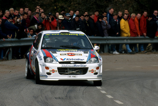 Colin McRae in action in his Ford Focus, Leg 2 Catalunya Rally 2000.Photo:McKlein/LAT