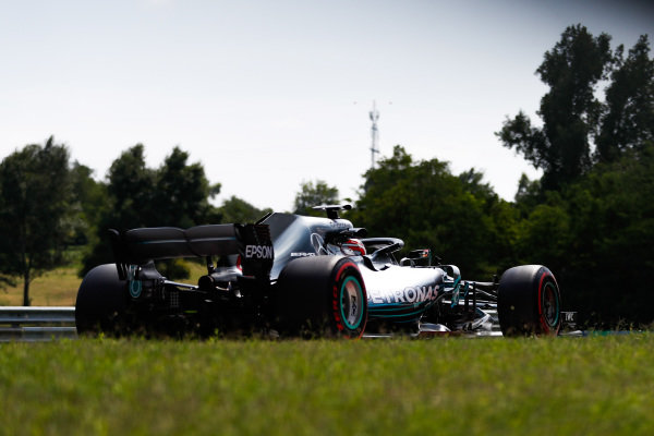 George Russell, Mercedes AMG F1 W09.