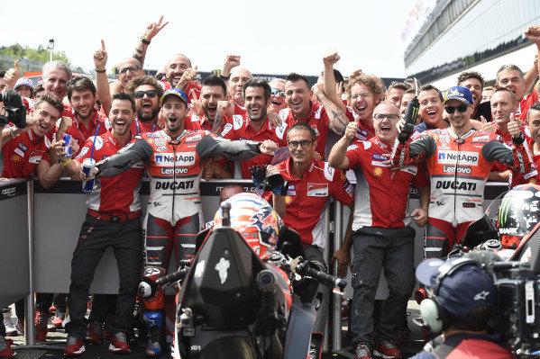 Race winner Andrea Dovizioso, Ducati Team, second place Jorge Lorenzo, Ducati Team.