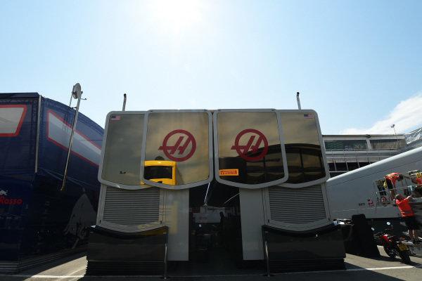 Haas F1 motorhome