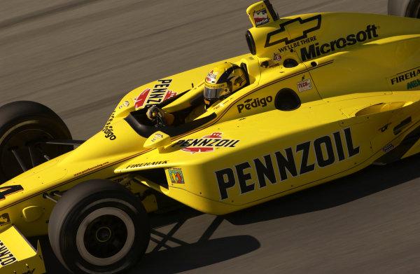 2003 IRL IndyCar Chicagoland Speedway, Chicago, Illinois 8/5-8/7/03 USASam HornishWorld Copyright-Walt Kuhn 2003 LAT Photographicref: Digital Image Only
