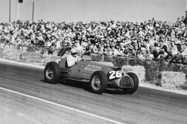 1951 French Grand Prix.Reims-Gueux, France. 1 July 1951.Reg Parnell (Thinwall Special Ferrari 375).World Copyright - LAT Photographic