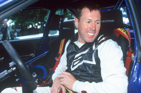 2004 Goodwood Festival of SpeedGoodwood House, Chichester, England. 25th - 27th June.Colin McRae at the wheel of his Championship winning Subaru Impreza.World Copyright: Peter Spinney/LAT Photographicref: 35mm Transparency Image.