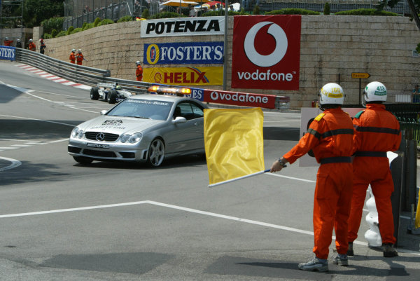 2003 Monaco Grand Prix, Sunday Race,Monte Carlo, Monaco.1st June 2003.The Safety car came out after Frentzen crashed.World Copyright LAt Photographic.Digital Image Only.