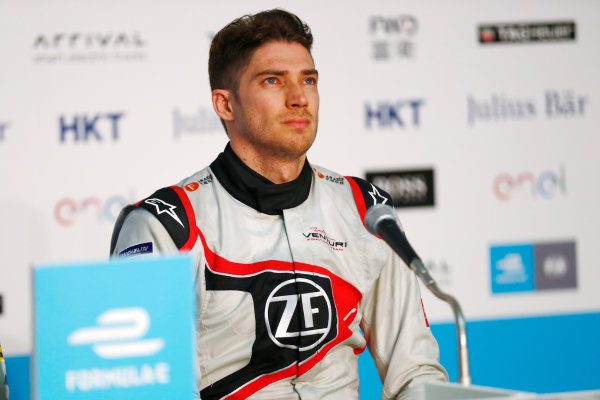2017/2018 FIA Formula E Championship. Round 2 - Hong Kong, China. Sunday 03 December 2017. Edoardo Mortara (ITA) Venturi Formula E, Venturi VM200-FE-03, in the press conference. Photo: Sam Bloxham/LAT/Formula E ref: Digital Image _J6I7879