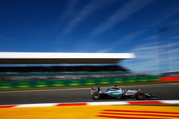 Silverstone, Northamptonshire, England. Friday 03 July 2015. Lewis Hamilton, Mercedes F1 W06 Hybrid. World Copyright: Glenn Dunbar/LAT Photographic. ref: Digital Image _W2Q2850