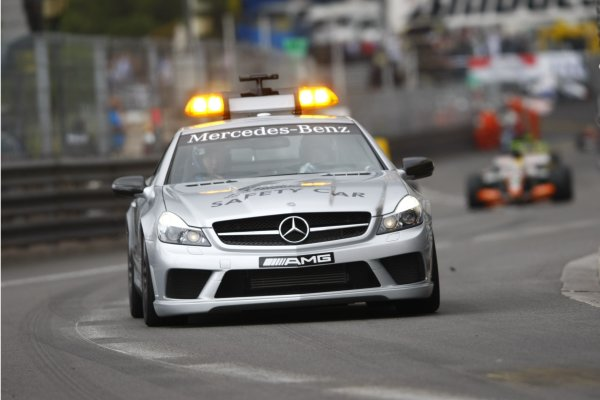 2008 GP2 Series. Round 3. Saturday Race. Monte-Carlo, Monaco. 24th May 2008.The safety car leads the field. Action. World Copyright: Charles Coates/GP2 Series Media Service.ref:__26Y9405 jpg
