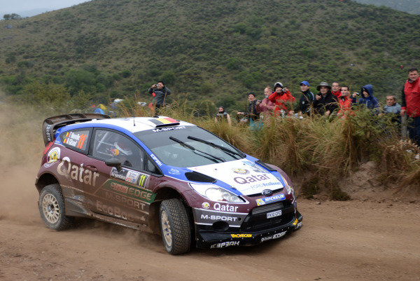 Thierry Neuville (BEL) and Nicolas Gilsoul (BEL), Ford Fiesta RS WRC on stage 3. FIA World Rally Championship, Rd5, Philips LED Rally Argentina, Day One, Villa Carlos Paz, Argentina, 2 May 2013.