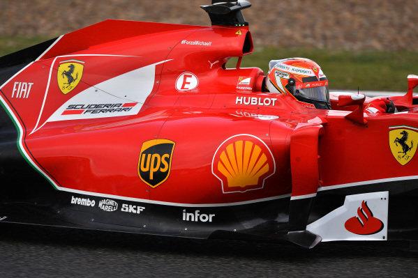 Kimi Raikkonen (FIN) Ferrari F14 T. Formula One Testing, Jerez, Spain, Day Two, Wednesday 29 January 2014.