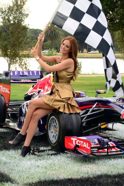 Georgia Geminder (AUS) 2014 Australian Grand Prix Ambassador.2014 Formula 1 Rolex Australian Grand Prix Media Launch, Carousel, Albert Park, Melbourne, Australia, 3 February 2014.