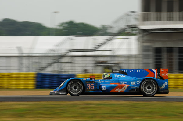9th June, 2013, Le Mans, France Signatech Alpine: Nelson Panciatici, Pierre Ragues, Tristian Gommendy.(c) 2013, Camden Thrasher LAT Photo USA