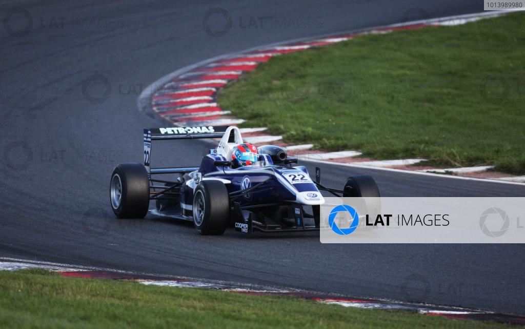 Brands Hatch, Kent. 10th - 11th August 2013.  Jazeman Jaafar, Carlin Dallara Mercedes.  Ref: IMG_4034a. World Copyright: Kevin Wood/LAT Photographic