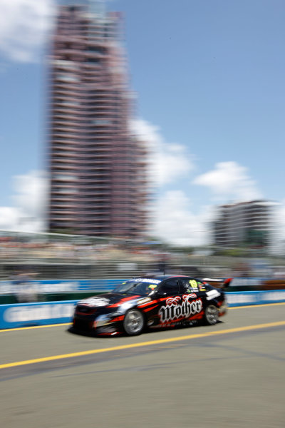 The Tekno Autosports Ford Falcon of Jonathon Webb and Gil de Ferran of Brazil during the Armor All Gold Coast 600, event 11 of the 2011 Australian V8 Supercar Championship Series at the Gold Coast Street Circuit, Gold Coast, Queensland, October 23, 2011.