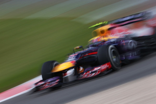Mark Webber (AUS) Red Bull Racing RB9. Formula One World Championship, Rd9, German Grand Prix, Practice, Nurburgring, Germany, Friday 5 July 2013.