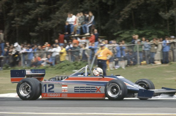1981 Belgian Grand Prix.Zolder, Belgium. 15-17 May 1981.Nigel Mansell (Lotus 81B-Ford Cosworth), 3rd position.World Copyright: LAT PhotographicRef: 35mm transparency 81BEL15
