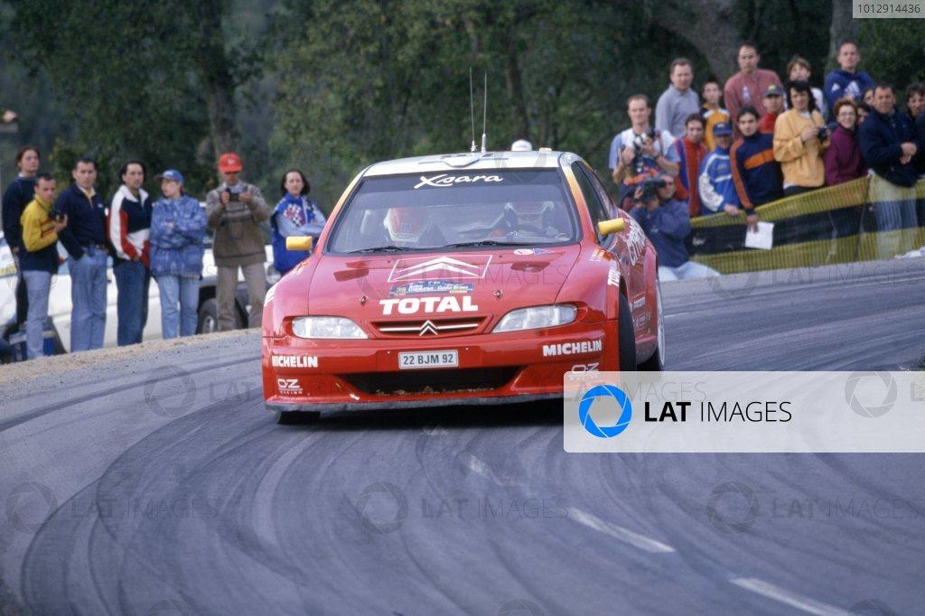 1999 World Rally Championship.Catalunya Rally, Spain. 19-21 April 1999.Philippe Bugalski/Jean-Paul Chiaroni (Citroen Xsara Kit Car), 1st position.World Copyright: LAT PhotographicRef: 35mm transparency 99RALLY05