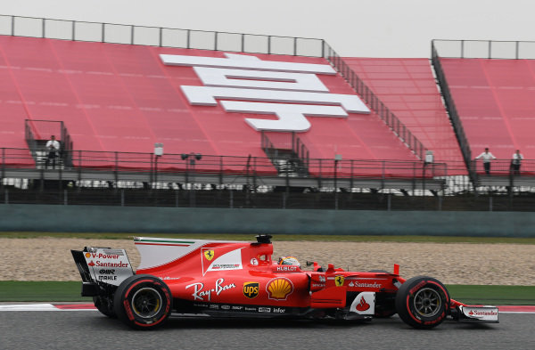 Sebastian Vettel (GER) Ferrari SF70-H at Formula One World Championship, Rd2, Chinese Grand Prix, Qualifying, Shanghai, China, Saturday 8 April 2017.