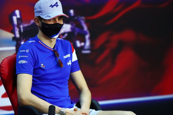 Esteban Ocon, Alpine F1, in the press conference
