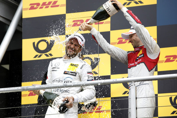 Podium: Gary Paffett, Mercedes-AMG Team HWA and René Rast, Audi Sport Team Rosberg.