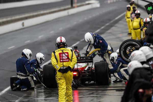 Patricio O'Ward, Carlin Chevrolet, pit stop