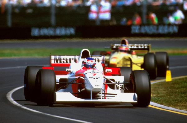 Albert Park, Melbourne, Australia.8-10 March 1996.Mika Hakkinen (McLaren MP4/11 Mercedes) 5th position.Ref-96 AUS 32.World Copyright - LAT Photographic