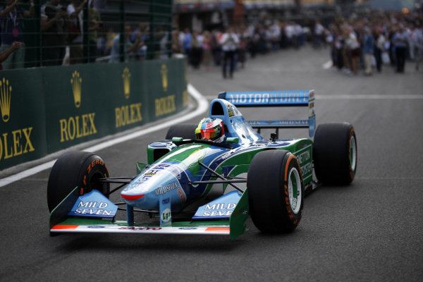 Mick Schumacher (GER) Benetton B194 at Formula One World Championship, Rd12, Belgian Grand Prix, Race, Spa Francorchamps, Belgium, Sunday 27 August 2017. BEST IMAGE