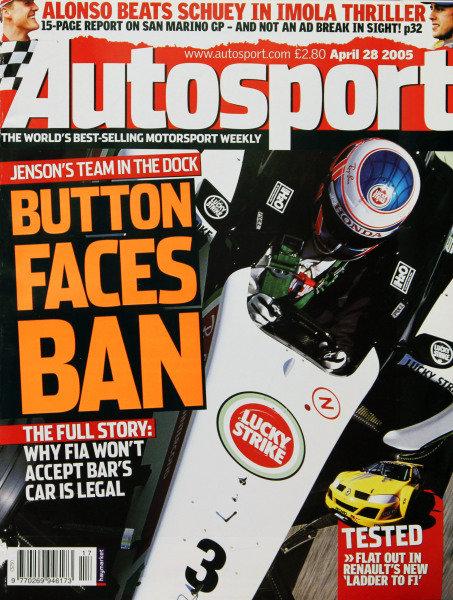 Cover of Autosport magazine, 28th April 2005