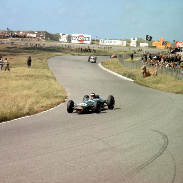 Zandvoort, Holland. 21 - 23 May 1963. Dan Gurney (Brabham BT7 Climax) 2nd position. Ref-3/0972. World Copyright - LAT Photographic