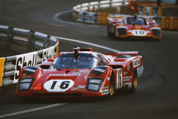 Chris Craft / David Weir, David Piper, Ferrari 512 M, leads Georg Loos / Franz Pesch, Ferrari 512M.