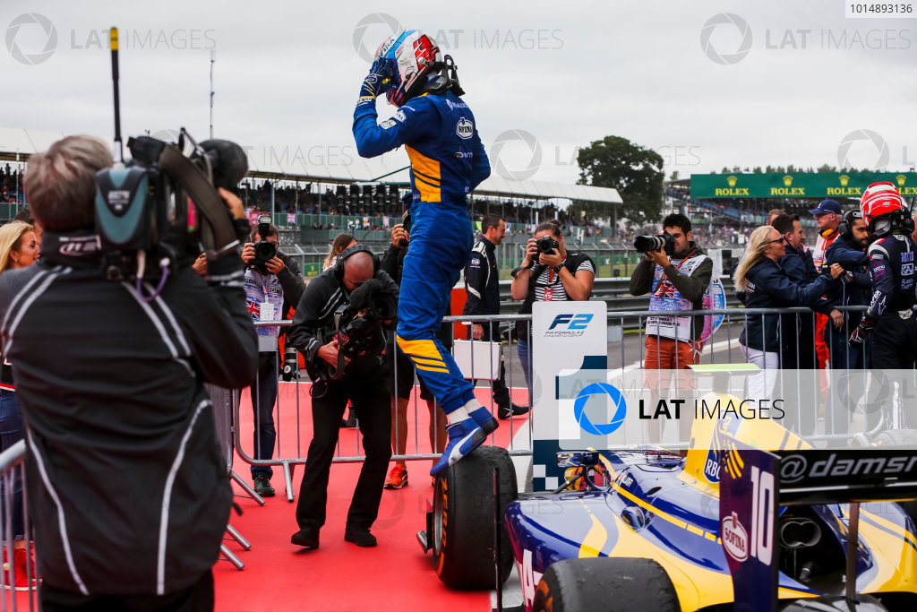 2017 FIA Formula 2 Round 6. Silverstone, Northamptonshire, UK. Sunday 16 July 2017.Nicholas Latifi (CAN, DAMS).  Photo: JEP/FIA Formula 2. ref: Digital Image 1DXA9102