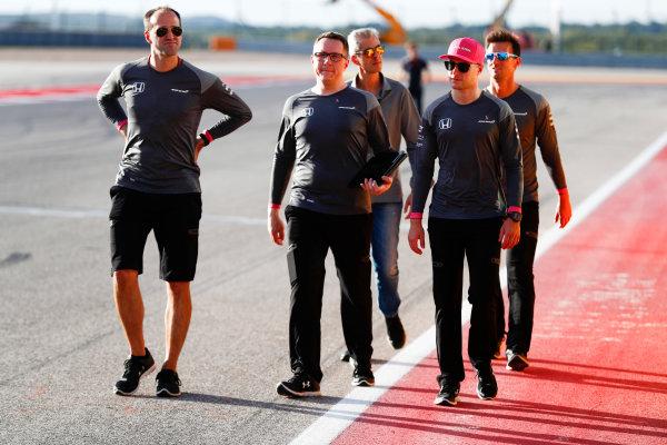 Circuit of the Americas, Austin, Texas, United States of America. Thursday 19 October 2017. Stoffel Vandoorne, McLaren. World Copyright: Sam Bloxham/LAT Images  ref: Digital Image _J6I6132
