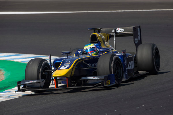 2017 FIA Formula 2 Round 10. Circuito de Jerez, Jerez, Spain. Sunday 8 October 2017. Oliver Rowland (GBR, DAMS).  Photo: Andrew Ferraro/FIA Formula 2. ref: Digital Image _FER3603