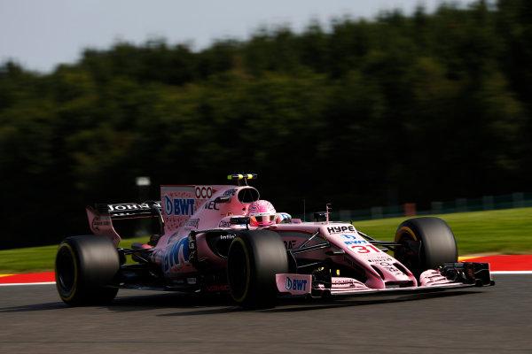 Spa Francorchamps, Belgium.  Friday 25 August 2017. Esteban Ocon, Force India VJM10 Mercedes.  World Copyright: Glenn Dunbar/LAT Images  ref: Digital Image _31I4791