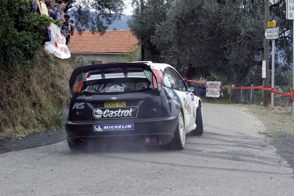 2003 FIA World Rally Champs. Round Twelve Corsica Rally 16th-19th October 2003.Markko Martin, Ford, Action.World Copyright: McKlein/LAT