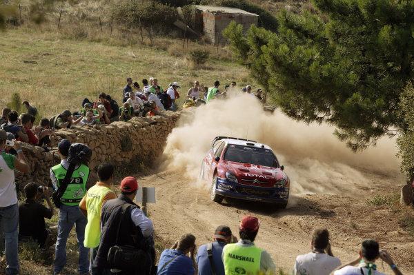 2004 FIA World Rally Champs. Round thirteen, Rally Italia Sardinia.30th September - 3rd October 2004.Carlos Sainz, Citroen, action.World Copyright: McKlein/LAT