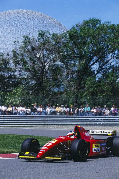 1995 Canadian Grand PrixCircuit Gilles Villeneuve, Montreal, Canada.Jean Alesi, FerrariWorld Copyright - LAT Photographicref: 95CAN10