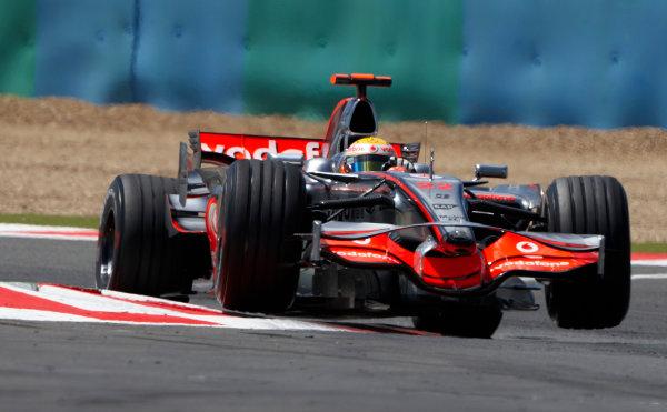Circuit Nevers de Magny Cours, Nevers, France 21st June 2008. Lewis Hamilton, McLaren MP4-23 Mercedes. Action.  World Copyright: Steve Etherington/LAT Photographic. ref: Digital Image SNE15342