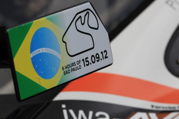 Sao Paulo, Brazil. 13th-15th September 2012,Paul Daniels/Markus Palttala/Joel Camathias JWA Avila Porsche 911 RSRWorld Copyright: Jakob Ebrey/LAT Photographic