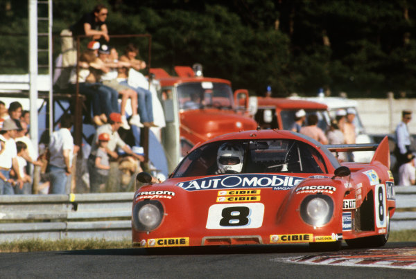 1981 Le Mans 24 Hours. Le Mans, France. 13th - 14th June 1981. Jacky Haran / Philippe Streiff / Jean-Louis Schlesser (Rondeau M379C Ford), 2nd position, action.  World Copyright: LAT Photographic. Ref: 81LM15