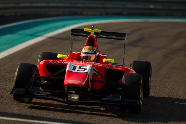 2015 GP3 Series Test 4. Yas Marina Circuit, Abu Dhabi, United Arab Emirates. Thursday 3 December 2015. Charles Leclerc (MON, Arden International)  World Copyright: Sam Bloxham/LAT Photographic. ref: Digital Image _SBL2078