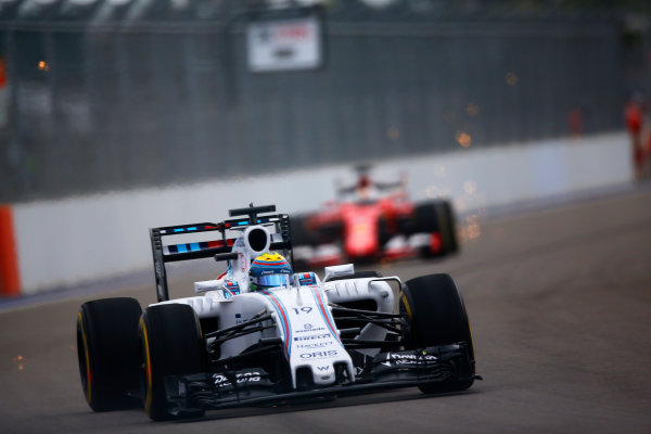 Sochi Autodrom, Sochi, Russia. Friday 09 October 2015. Felipe Massa, Williams FW37 Mercedes. World Copyright: Alastair Staley/LAT Photographic. ref: Digital Image _R6T9567