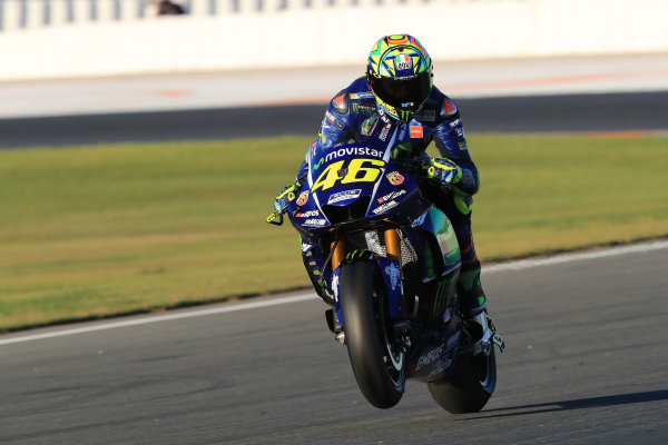 2017 MotoGP Championship - Valencia test, Spain. Tuesday 14 November 2017 Valentino Rossi, Yamaha Factory Racing World Copyright: Gold and Goose / LAT Images ref: Digital Image 706900