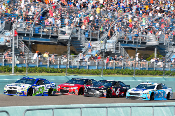 Monster Energy NASCAR Cup Series Ford EcoBoost 400 Homestead-Miami Speedway, Homestead, FL USA Sunday 19 November 2017 Ty Dillon, Germain Racing, GEICO Chevrolet SS and Dale Earnhardt Jr, Hendrick Motorsports, Axalta Chevrolet SS World Copyright: Nigel Kinrade LAT Images
