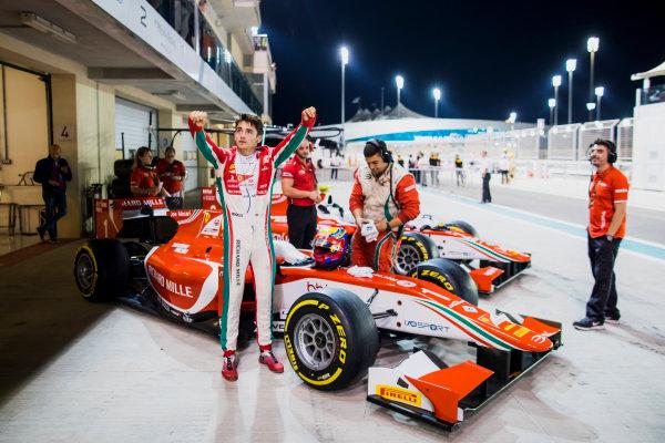 2017 FIA Formula 2 Round 11. Yas Marina Circuit, Abu Dhabi, United Arab Emirates. Friday 24 November 2017. Charles Leclerc (MCO, PREMA Racing).  Photo: Zak Mauger/FIA Formula 2. ref: Digital Image _56I0938